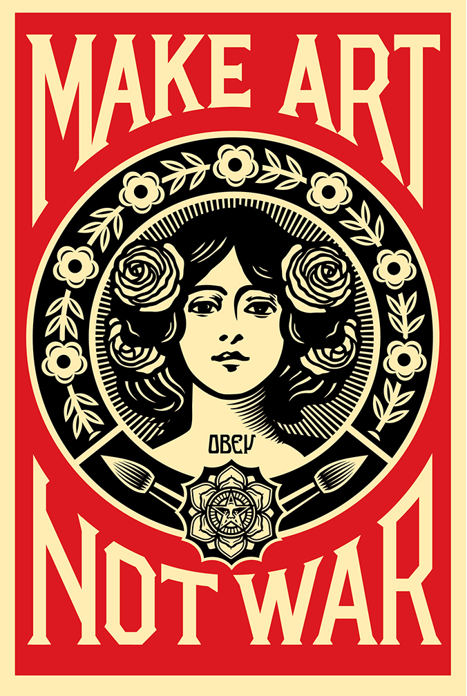 Shepard-Fairey-Make-Art-Not-War-Poster